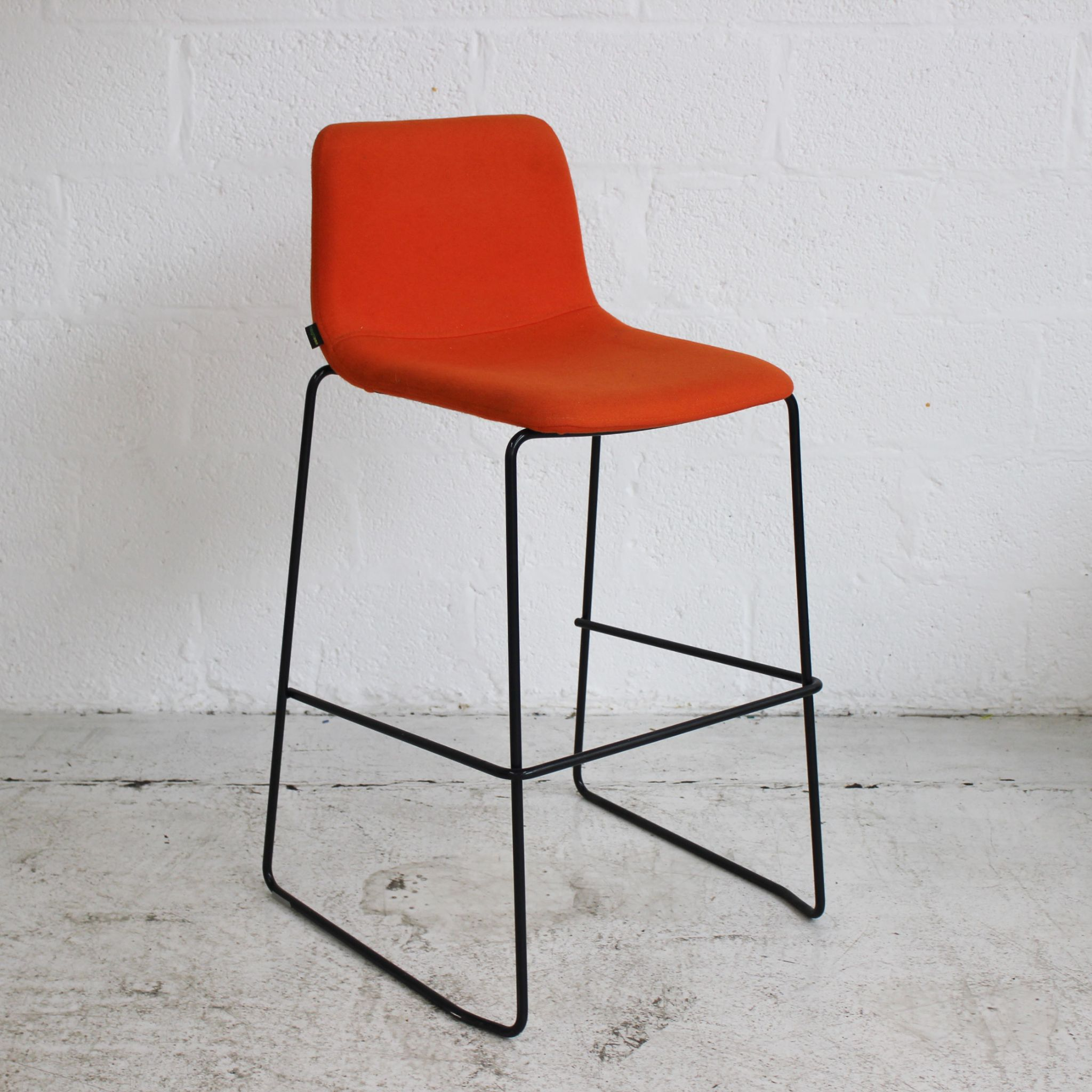 Awe Inspiring Naughtone Viv Stool Orange Caraccident5 Cool Chair Designs And Ideas Caraccident5Info
