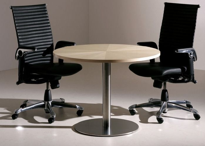 Fabulous New Veneer Circular Meeting Table With Mfc Edge Download Free Architecture Designs Viewormadebymaigaardcom
