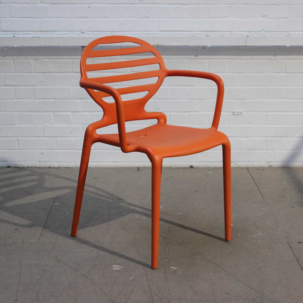 Orange Plastic Chairs | Outdoor Chair | Lightweight Chair