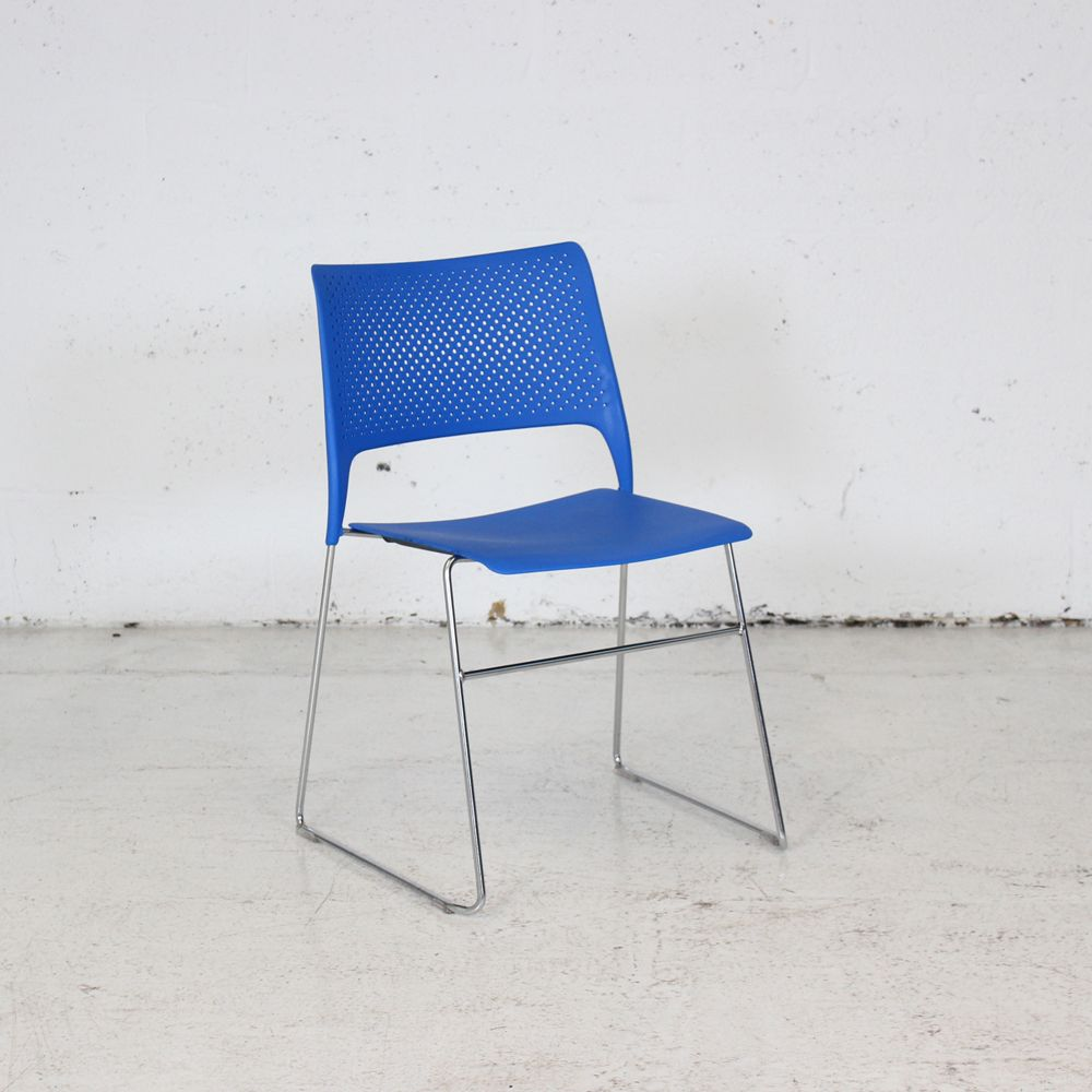 Orangebox Cors Meeting Chair - Blue | stacking chair | blue conference chair