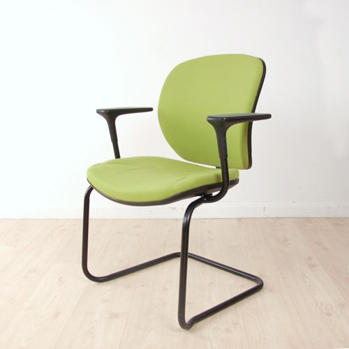 Orangebox Joy Meeting Chair | meeting chair with black frame | cantilever chair with arms