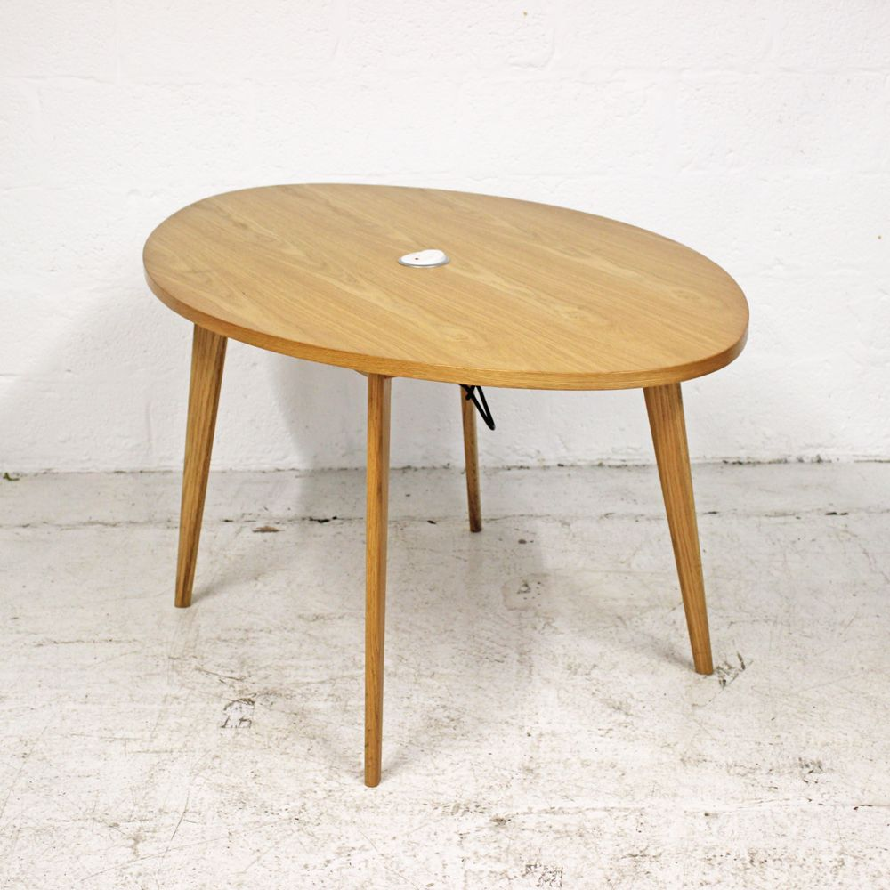 Oval Oak Table | Oak Table | Wooden Table with power