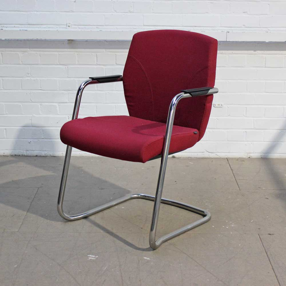 Pledge Key Meeting Chair (Red) | Red Meeting Chair | Cantilever Chair
