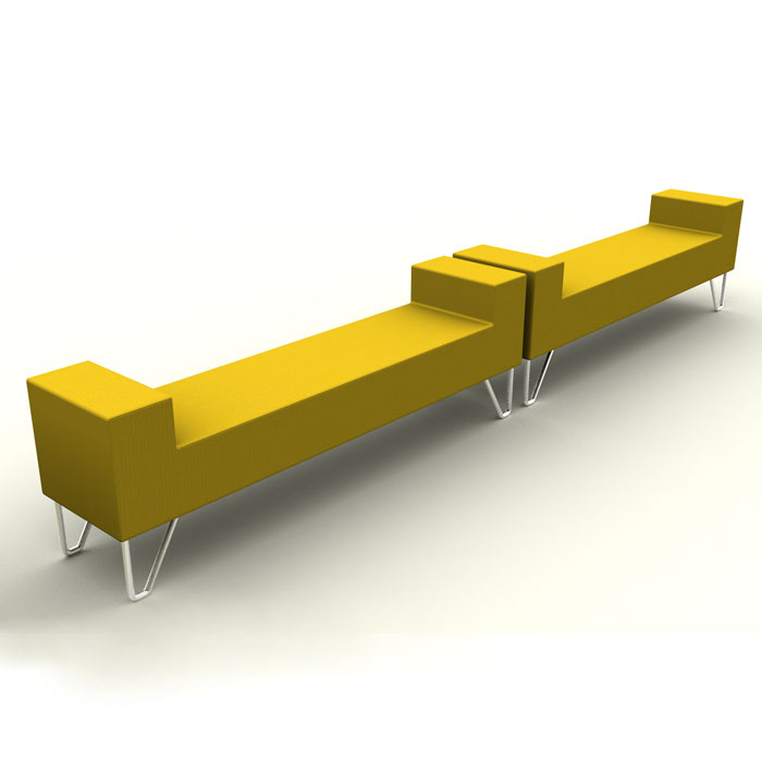 Reception Bench Seating Long Office Bench Fabric Bench Seat