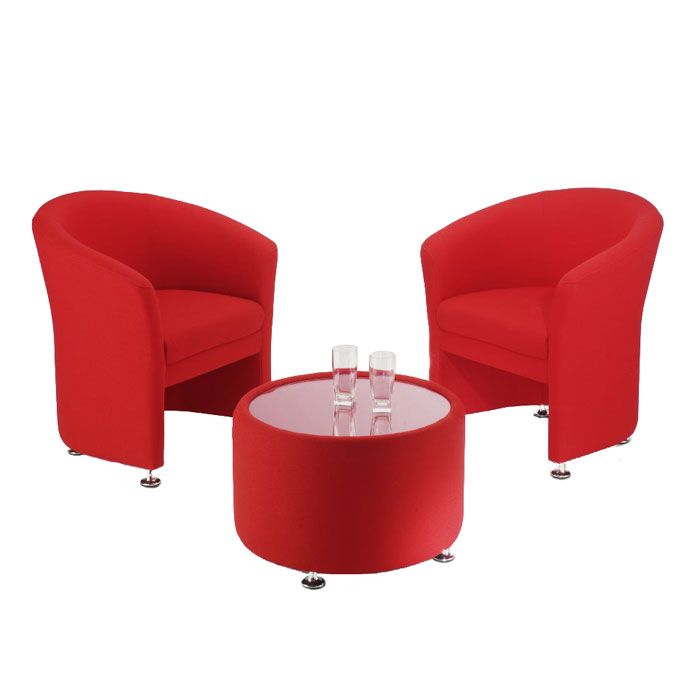 Reception Tub Chairs On Chrome Feet | Office Tub Chair | Reception  Furniture Set