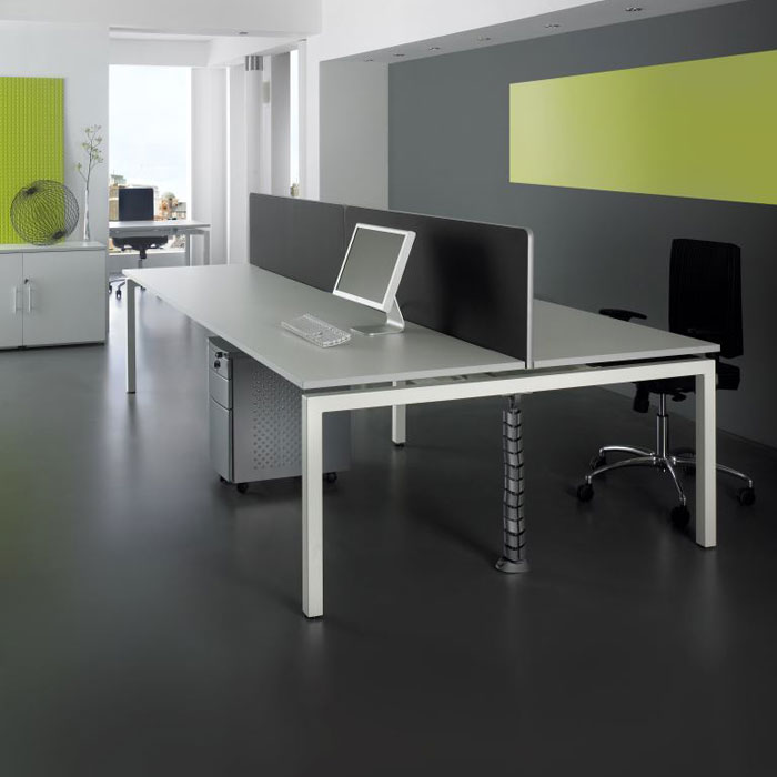 Rectangular Bench Desk System long desking system office desk