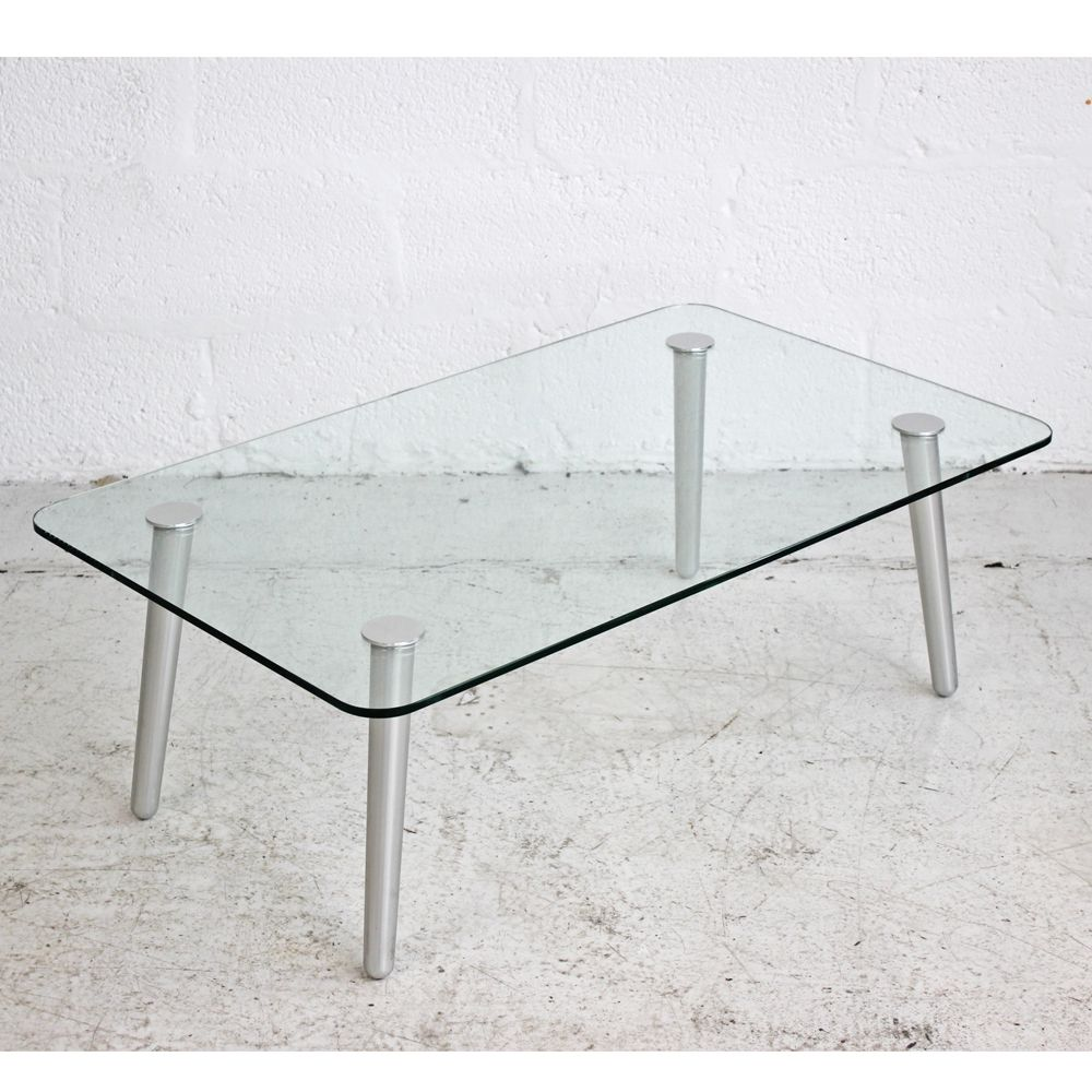Rectangular Glass Coffee Table Low Glass Table Glass Table