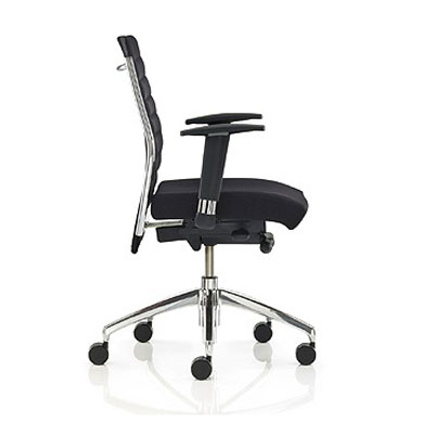 Ribbed Medium Back Executive Chair