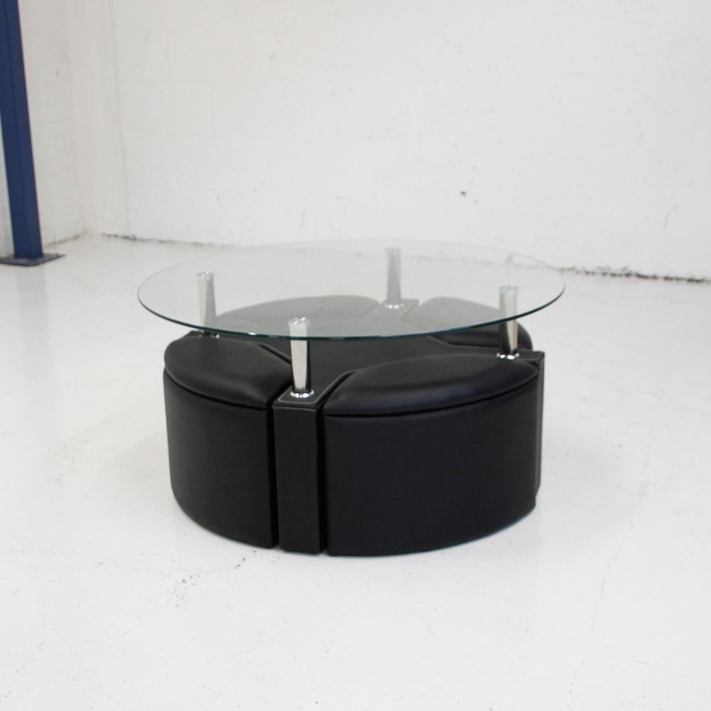 Round Glass Coffee Table With Storage 9