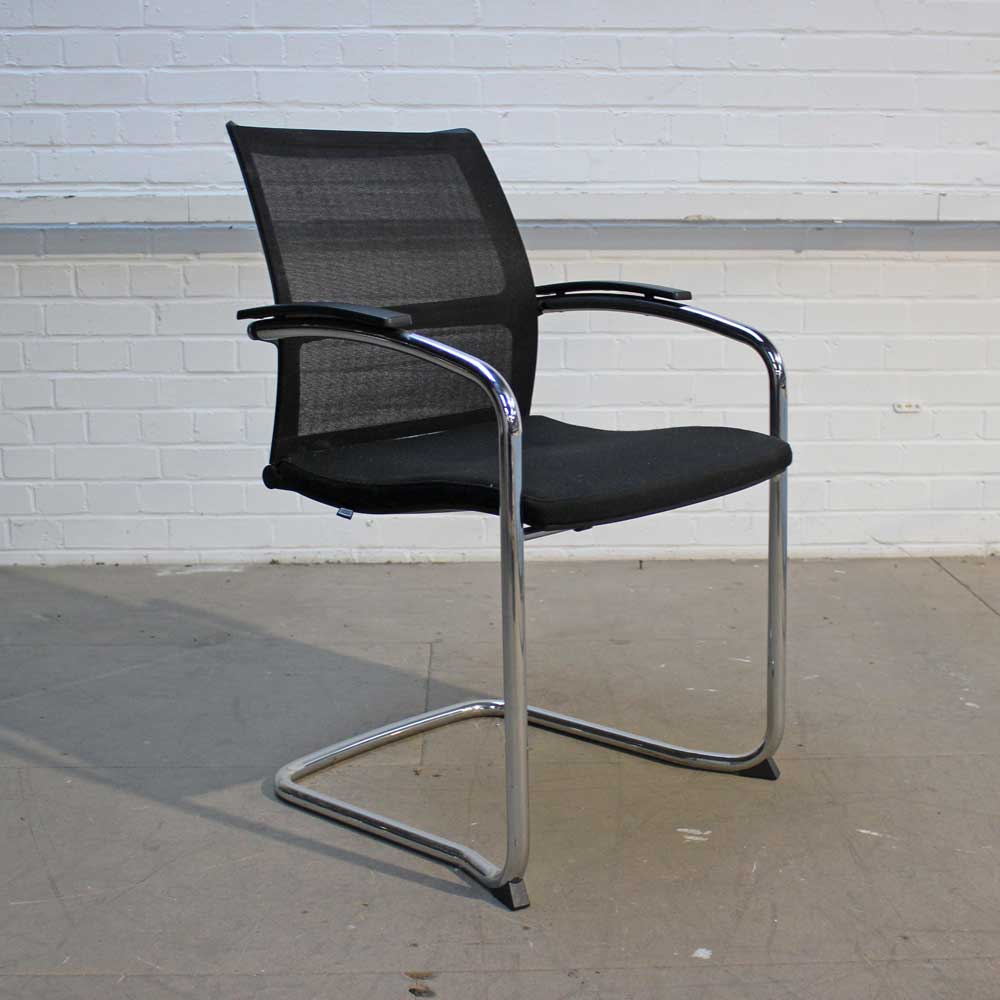 Sedus Open Up Cantilever Chair | Mesh back chair | Stacking meeting chair