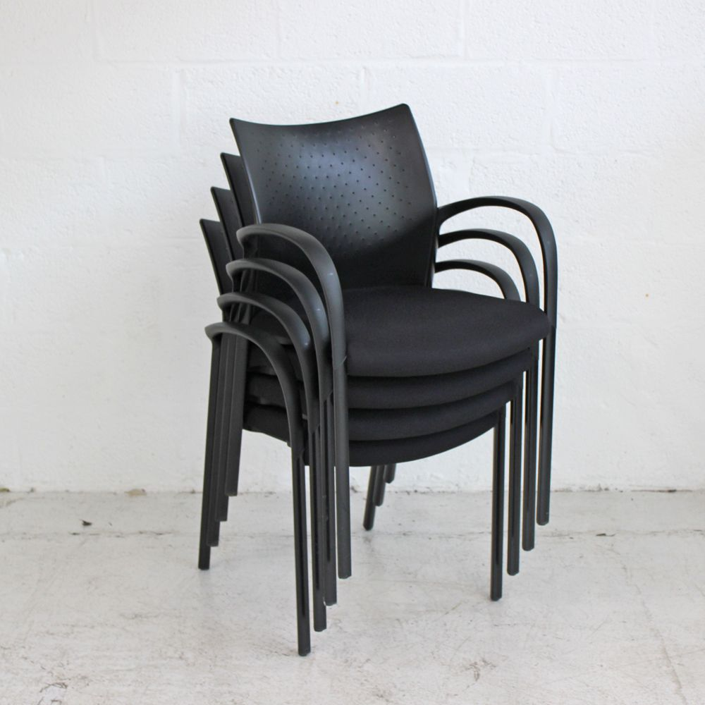 Senator Trillipse Chair - Black | Black Meeting Chair | Black conference chair
