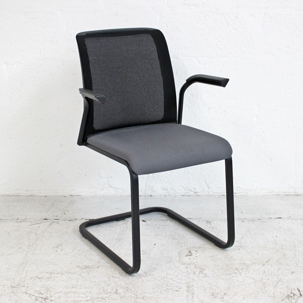 Steelcase Reply Air Meeting Chair | Mesh Back Meeting Chair | Mesh Cantilever Chair