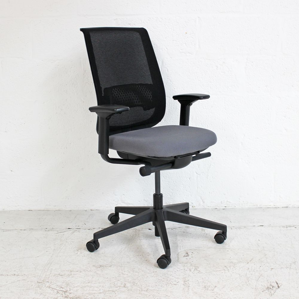 Steelcase Reply Air Task Chair | Black Mesh Chair | Mesh Back Operator Chair
