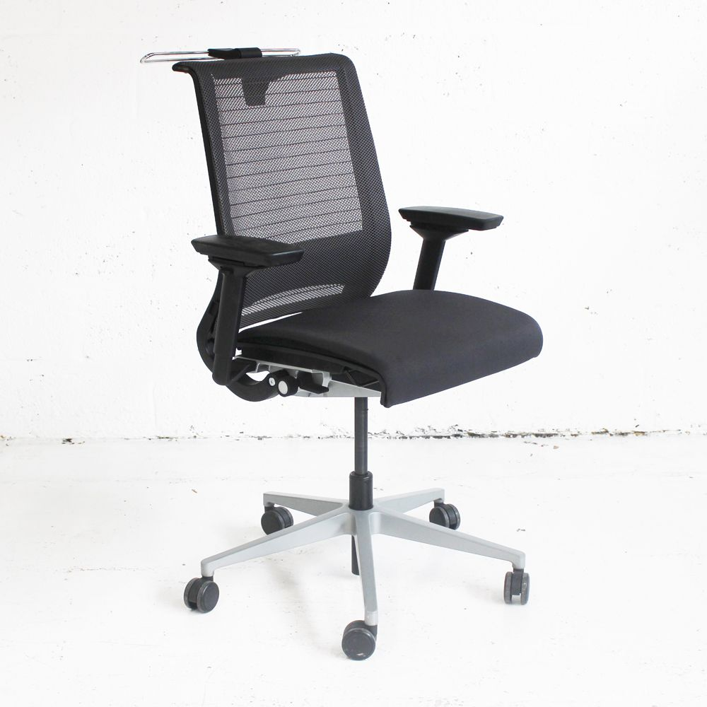 office coat hanger. Steelcase Think Operator Chair With Coat Hanger | Mesh Back Office Grey Computer