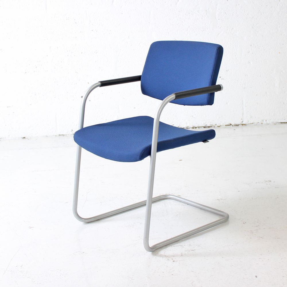 Verco Mix Cantilever Meeting Chair | chrome cantilever chair | blue meeting chair