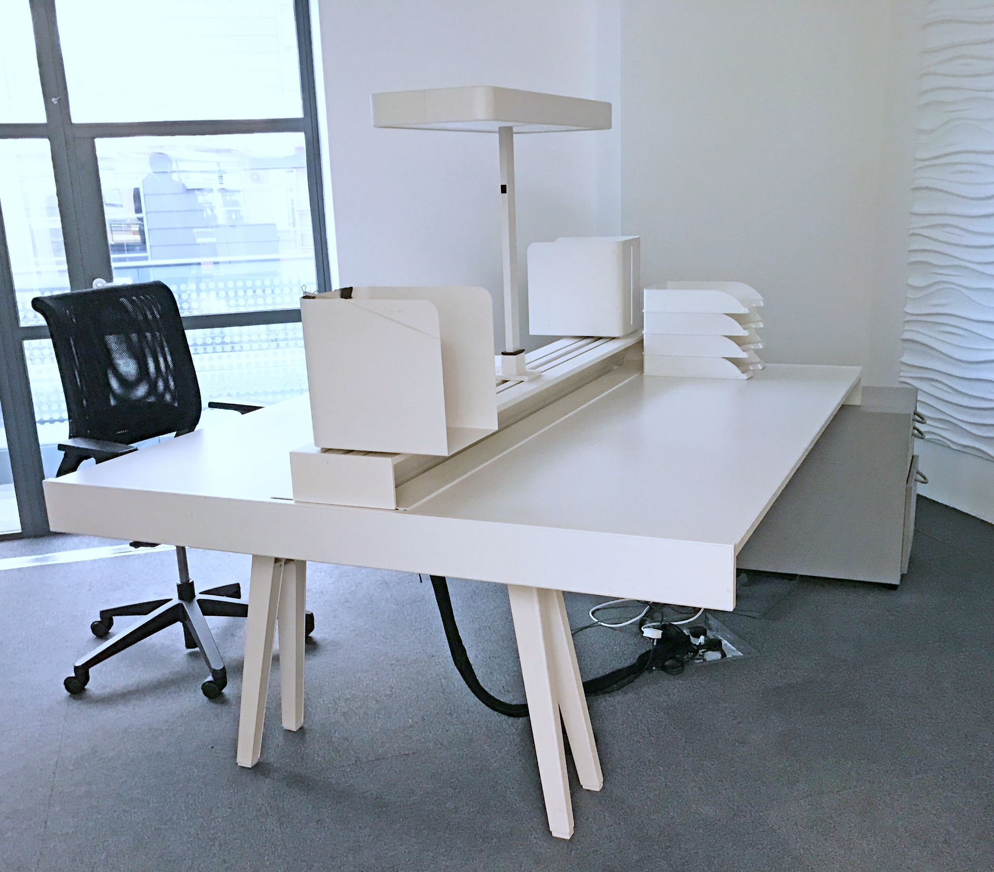 Vitra Joyn Double Bench Desk White Double Desk 2