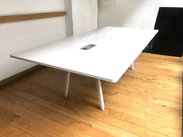 vitra joyn meeting table 2400mm x 1200mm white meeting. Black Bedroom Furniture Sets. Home Design Ideas
