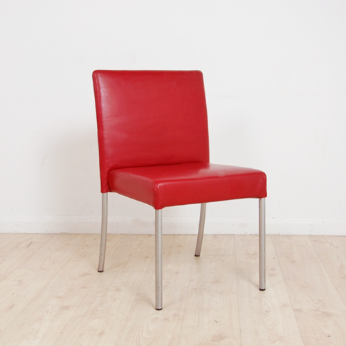 Walter Knoll Jason Lite Chair Designed by EOOS | red dining chair | red leather chair