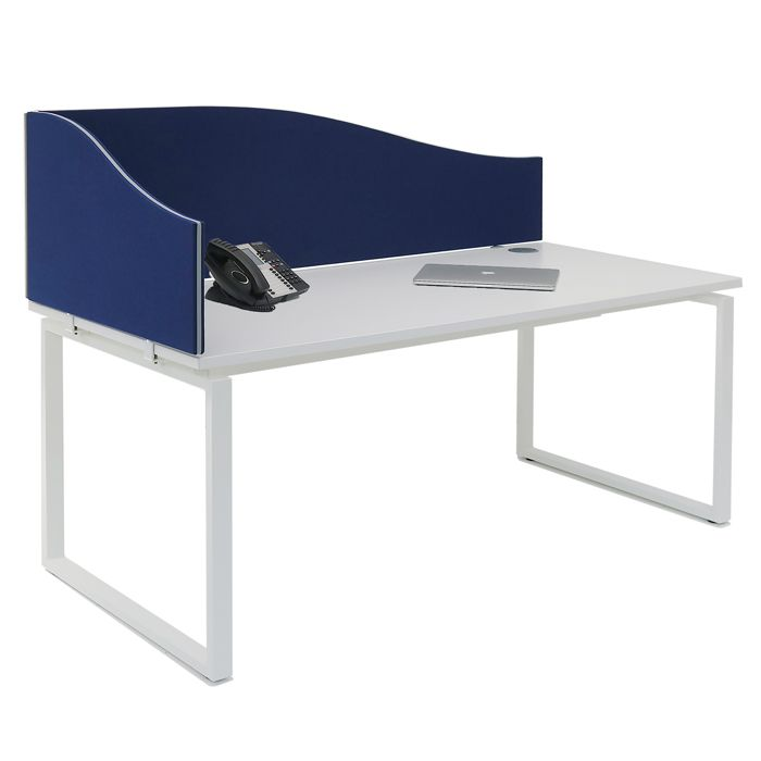 Wave or Arc Desk Mounted Screen (linking or non linking) | desk dividing screen | curved desk divider